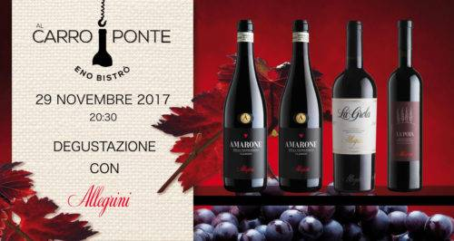 Serata desgustazione Allegrini - Al Carroponte Bergamo